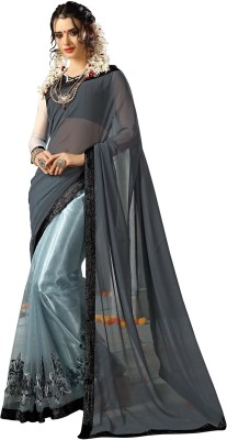 Suitevilla Self Design Fashion Georgette Sari