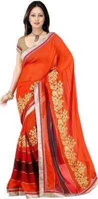 pbs prints Embellished Bollywood Georgette Sari