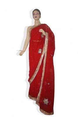 TANVIINDIA Self Design Fashion Synthetic Sari