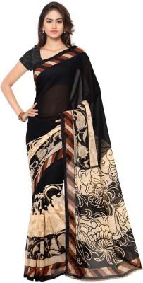 Kashvi Sarees Printed Daily Wear Georgette Saree(Multicolor) at flipkart