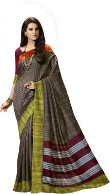 Antrapali Printed Fashion Cotton Linen Blend Sari