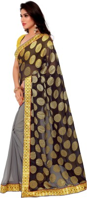 Gunjan Creation Self Design Fashion Viscose Sari