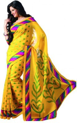 RajLaxmi Polka Print, Geometric Print, Self Design Fashion Cotton Slub Sari