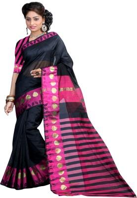 Mann Solid Banarasi Handloom Net Sari