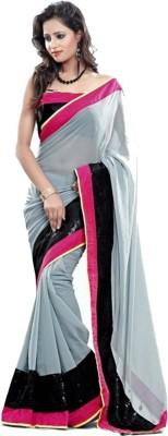 Vinayak Marketing Solid Bollywood Georgette Sari