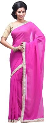Creation Plain Fashion Chiffon Sari