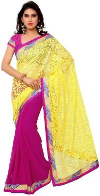 The Fancy Sarees Self Design Fashion Brasso Sari