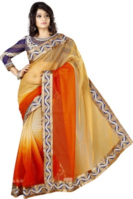 Urjita Creations Embriodered Fashion Cotton Sari