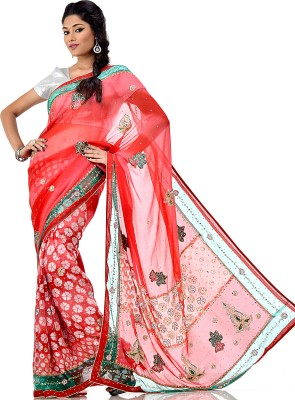 Sarees House Self Design Bollywood Brasso Sari