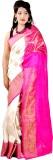 ASP Woven Banarasi Dupion Silk Saree (Wh...