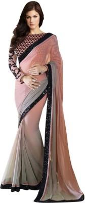 Colour Trendz Self Design Fashion Georgette Sari
