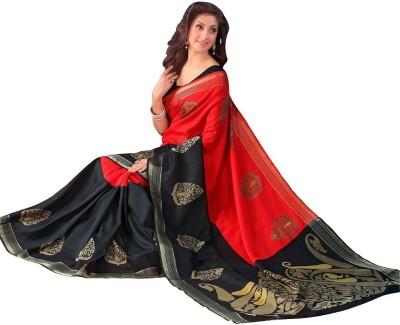 MANAN FASHIONS Polka Print Paithani Banarasi Silk Sari