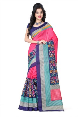 Z HOT FASHION Printed Daily Wear Silk Sari