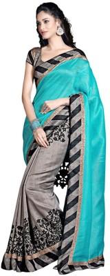 AJS Paisley, Geometric Print, Striped, Printed Bollywood Banarasi Silk Sari