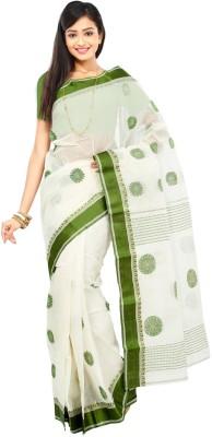 Crochetin Woven Tant Handloom Cotton Sari