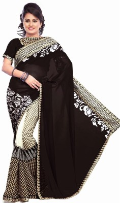 Al Zareen Self Design Bollywood Net Sari