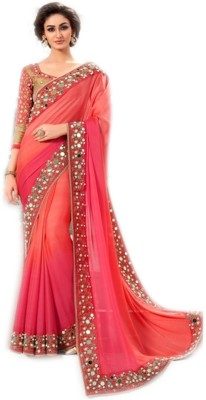 TrynGet Embriodered Bollywood Jacquard Sari