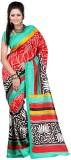 Varibha Plain Fashion Silk Saree (Red)