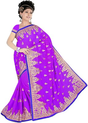 Anjani Creation Self Design Fashion Chiffon Sari