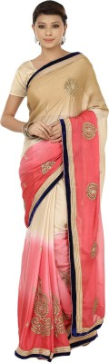 Sri Sai Vastra Embriodered Bollywood Crepe Sari