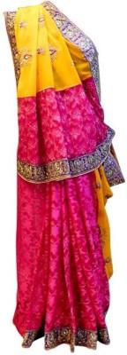 Shree Mansa Saree Embriodered Bollywood Jacquard, Pure Georgette, Net Sari