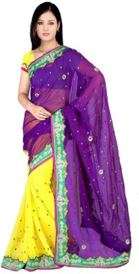 Sciocco Embriodered Fashion Georgette Sari