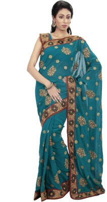 Ambition Embriodered Bollywood Georgette Sari