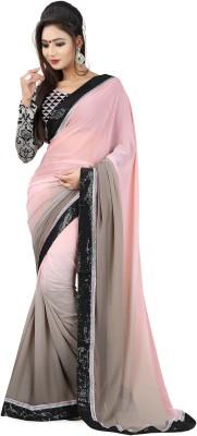 Snreks Collection Plain Fashion Georgette Sari