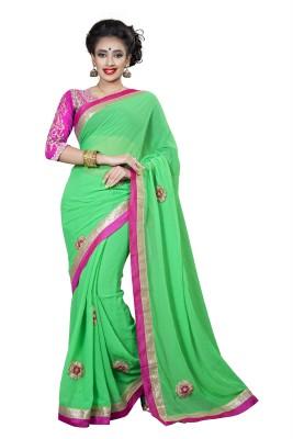 RIDDHIsiddhi Self Design, Embriodered Fashion Chiffon Sari