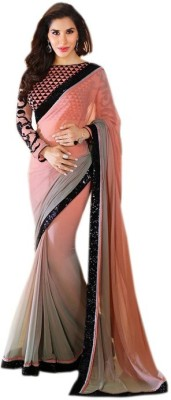 Thelibazz Self Design Bollywood Georgette Sari