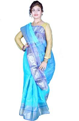 Kakali Self Design Phulia Handloom Cotton Sari