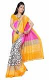 AccuStyle Printed Bhagalpuri Art Silk Sa...
