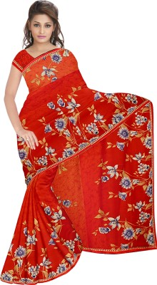 SNEH VARSHA SAREES Printed Daily Wear Synthetic Georgette Sari