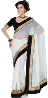 Frocksme Self Design Bollywood Georgette Sari