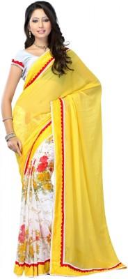 ForeTrend Printed Bollywood Georgette Sari