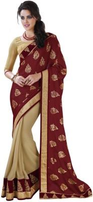 DesiButik Embellished Fashion Chiffon, Georgette Sari
