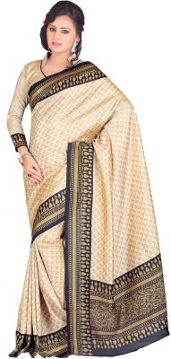 Swaranjali Geometric Print, Printed Fashion Art Silk Sari