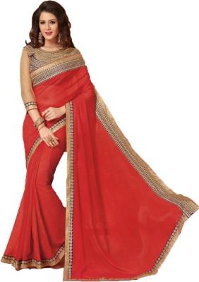 Parei Solid Bollywood Georgette Sari