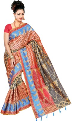 Moon Sarees Self Design Manipuri Handloom Silk Sari
