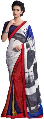 Prabha Creation Printed Fashion Georgette Sari