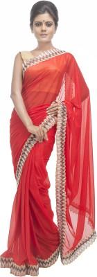Retaaz Solid Bollywood Organza Sari