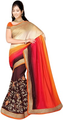 Bano Tradelink Self Design Bollywood Crepe Sari