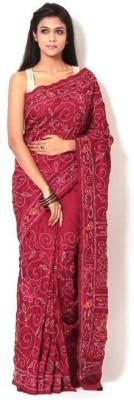 Rudrakshhh Dhakai Embriodered Katha Handloom Tussar Silk Sari