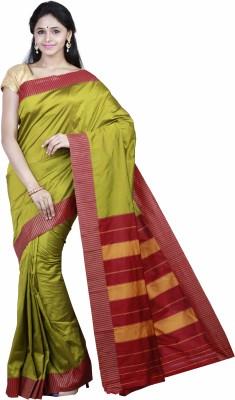 Mann Solid Fashion Art Silk Sari