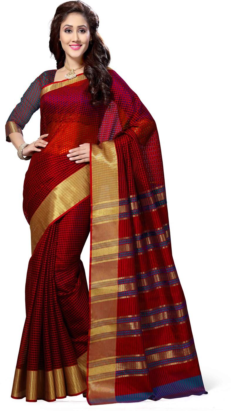 Saree Swarg Embellished Bollywood Art Silk Saree(Multicolor)