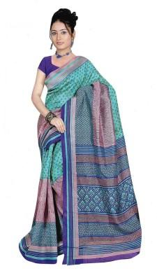 Sangam Collections Floral Print Bhagalpuri Art Silk Sari