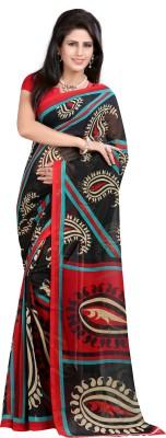 Cutie Fashion Printed Daily Wear Georgette Sari