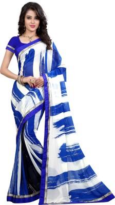 Arya Fashion Striped Bollywood Georgette Sari