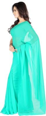 Muta Fashions Plain Daily Wear Georgette Sari