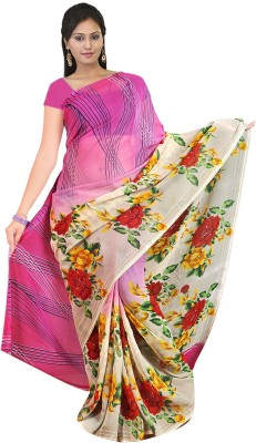 Mahalaxmi Fashion Printed Daily Wear Handloom Georgette Sari